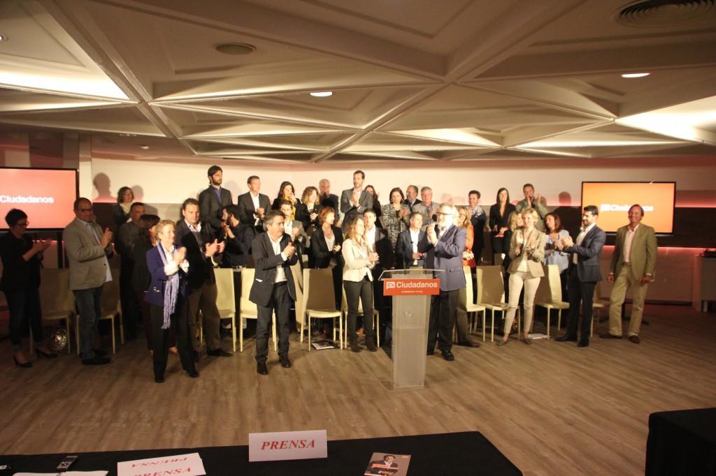 Presentación de todas las candidaturas de Baleares C´s a la Prensa