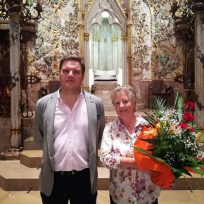 Cs Baleares sigue conmemorando el 12 de septiembre realizando la tradicional ofrenda floral en la tumba del Rey Jaume II