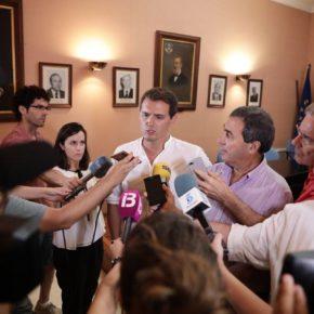 """Rivera: """"Los partidos constitucionalistas deberíamos tener un discurso conjunto pero el gobierno de Sánchez parece que prefiere estar al servicio de los nacionalistas"""""""