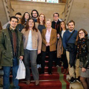 Los jóvenes de Cs Baleares visitan el Consell de Mallorca para conocer sus funciones