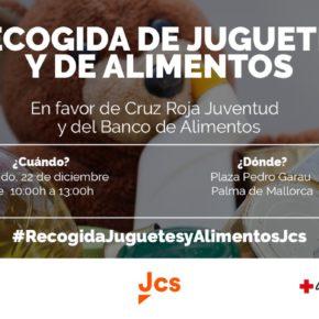 Jóvenes Ciudadanos (Jcs) Baleares organiza su tradicional recogida de juguetes y alimentos a favor de Cruz Roja y Banco de Alimentos