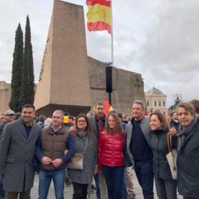 Representantes institucionales y orgánicos de Ciudadanos (Cs) Baleares acuden a la concentración de Plaza de Colón para defender una España unida y exigir la convocatoria de elecciones