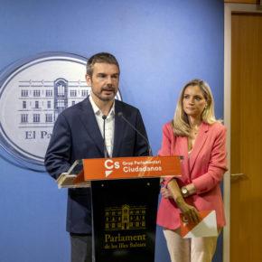 Cs Baleares insta a que el Govern deje de subvencionar a entidades de propaganda independentista y de persecución ideológica