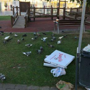 Cs Palma denuncia la falta de limpieza a primera hora de la mañana en el Parque de las Estaciones