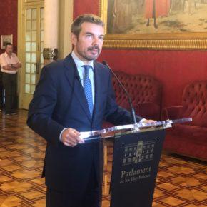 """Pérez-Ribas: """"Nos parece preocupante que la Presidenta Armengol siga siendo ambigua en su apoyo al turismo"""""""