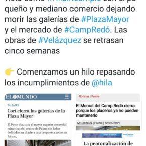 Cs Palma critica los incumplimientos del alcalde con los palmesanos