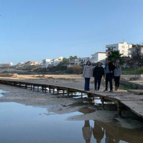 Cs Baleares visita las zonas más afectadas por la borrasca 'Gloria'