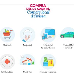Cs coordina un proyecto para recoger los comercios que ofrecen servicio a domicilio en Ibiza