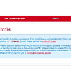 El Consell d'Eivissa lanza una nueva versión de la sede electrónica más eficiente e intuitiva
