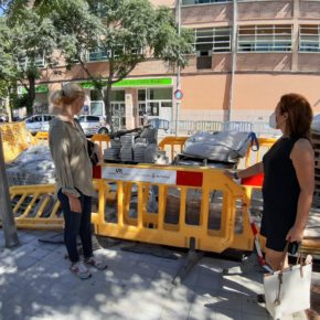 Cs Palma visita Camp Redó y consigue el compromiso del Ayuntamiento de terminar las obras en el barrio