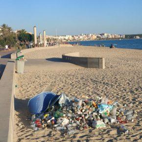 Cs denuncia la falta de limpieza y vigilancia en Playa de Palma