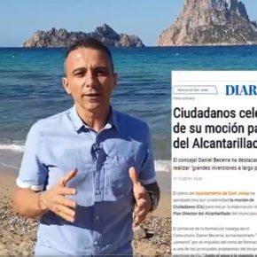 """Ciudadanos denuncia la """"pésima gestión"""" de Sant Josep en medio ambiente y exige la puesta en marcha de 'Cala d'Hort sin humos'"""