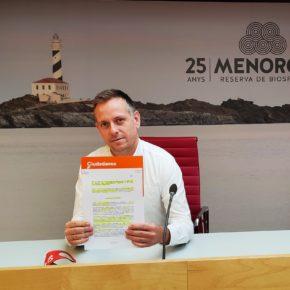Cs pide al Consell de Menorca que la selección de puestos de alta dirección se realice por procedimientos abiertos y de libre concurrencia competitiva