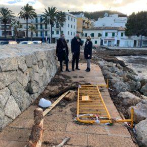 Cs Baleares instará al Govern a que aumente la inversión en mantenimiento en el Port d'Andratx y primera línea del litoral tras la borrasca Bella